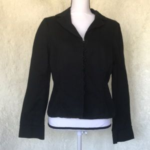 Mossimo Black Button Down Jacket Size Large